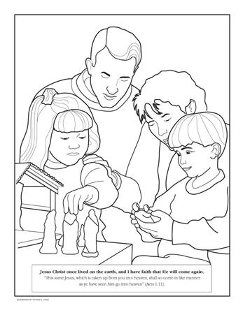 Famoso Lds Para Colorear Jesus Como Un Niño Festooning - Páginas ...